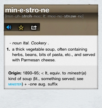 Definition of minestrone