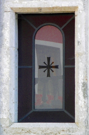 A window from the local village of Polcenigo