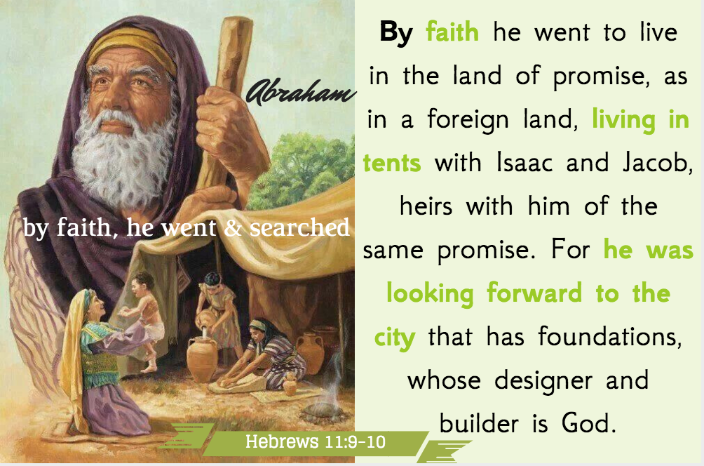 Abraham migrated heavenward